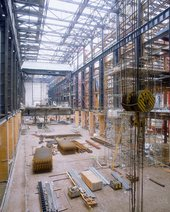 Construction work being carried out on Bankside Power Station, 1998