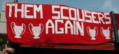Banner made by supporters of Liverpool Football Club, Istanbul May 2005