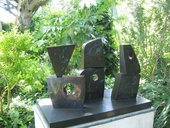 Barbara Hepworth Six Forms (2 x 3) 1968 in the Barbara Hepworth Sculpture Garden