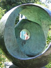 Barbara Hepworth Sphere with Inner Form 1963 in the Barbara Hepworth Sculpture Garden