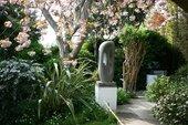 Barbara Hepworth Stone Sculpture (Fugue II) 1956 in the Barbara Hepworth Museum and Sculpture Garden