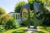 Barbara Hepworth Two Forms (Divided Circle) 1969 in the Barbara Hepworth Sculpture Garden