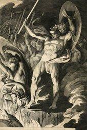 James Barry Satan and his Legions Hurling Defiance Toward The Vault of Heaven circa 1792-1794