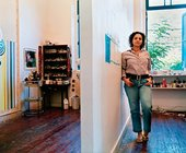 Beatriz Milhazes in her Rio de Janeiro studio 2004