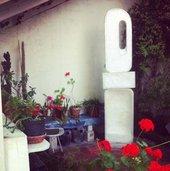 Sculpture in Barbara Hepworth's Trewyn studio in St Ives