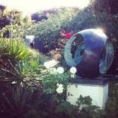 Barbara Hepworth sculpture garden at Trewyn studio St Ives