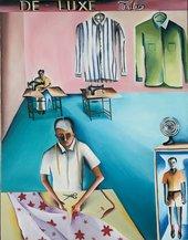Bhupen Khakhar, The De-Luxe Tailors 1972