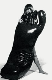 Nicola L with The Giant Foot in 1969