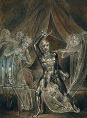 William Blake Richard III and The Ghosts around 1806