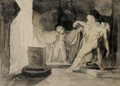 William Blake The Witch of Endor Raising The Spirit of Samuel 1783