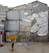 Artwork by Blu in Zaragoza, Spain, 2006