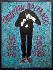 Christian Boltanski Life is Happy, Life is Sad 1974 Gouache on paper, framed 104 x79 cm