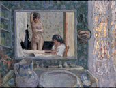 Pierre Bonnard The Mirror in the Green Room 1909 Oil on paper