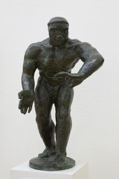 Henri Gaudier-Brzeska The Wrestler 1912, cast 1945