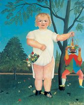 Henri Rousseau To celebrate the baby 1903 painting