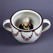 Chamber pot with head of Napoleon c1805 ceramic chamber pot with a bust of napoleon inside