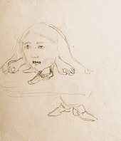 Charles Dodgson sketches of Alice head
