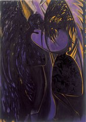 Chris Ofili Dance in Shadow 2008-2009 painting depicting a couple dancing together