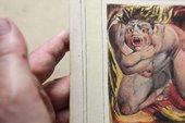 Conservator handles William Blake First Book of Urizen pl. 6 1796, circa 1818