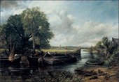 John Constable, View on the Stour 1824, landscape and river