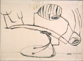 David Smith - Δ Σ 4/23/50 (Study for Australia) 1950 Ink on paper
