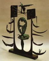 David Smith - Royal Incubator 1949 Steel, bronze and silver sculpture