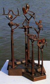 David Smith - Sacrifice 1950 Painted steel sculpture seen outdoors