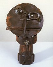 David Smith - Sawhead 1933 Bronze and painted iron sculpture
