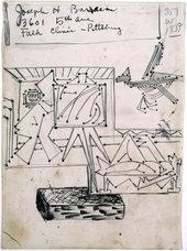 David Smith - Untitled (Study for Steel Drawing I) 1945 Ink on paper drawing