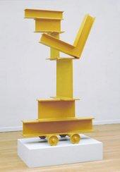 David Smith - Untitled (Zig VI) 1964 Painted steel yellow sculpture