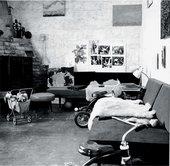 David Smith Candida and Rebecca Smith's bedroom, Bolton Landing c.1962