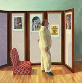David Hockney, Looking at Pictures on a Screen, 1977