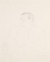 David Hockney, W.H. Auden I, 1968