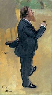 Edgar Degas Carlo Pellegrini about 1876-7 Oil on paper mounted on board