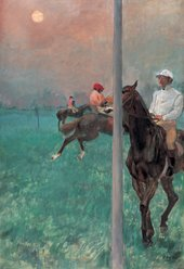 Edgar Degas Jockeys Before the Start about 1878-9