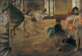 Edgar Degas The Rehearsal 1871, oil on canvas of ballet dancers