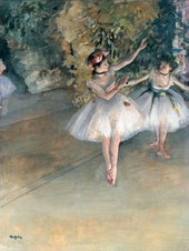 Edgar Degas Two Dancers on the Stage 1874 Oil on canvas