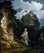 Philip James De Loutherbourg Visitor to a Moonlit Churchyard 1790