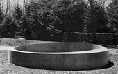 Donald Judd Untitled 1971 Outdoor concrete ring made for Philip Johnson