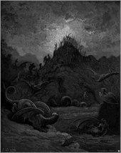 Gustav Doré All Life Dies Illustration for Paradise Lost 1866