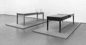 Left: Doris Salcedo Unland: irreversible witness 1995–8 Right: Doris Salcedo Unland: the orphans tunic 1997