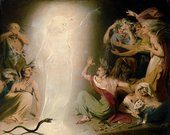 John Downman The Ghost of Clytemnestra Awakening the Furies 1781
