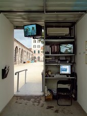 Cristoph Büchel and Gianni Motti's Guantánamo Initiative 2004–ongoing at the 51st Venice Biennale, 2005