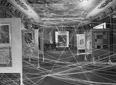 John D. Schiff Installation view of First Papers of Surrealism exhibition, showing Marcel Duchamp's His Twine 1942