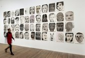 Marlene Dumas: Image as Burden, Portrait Heads Tate Modern installation view 2015