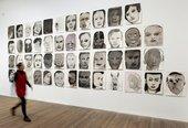 Marlene Dumas: Image as Burden, Portrait Heads Tate Modern installation view 2015