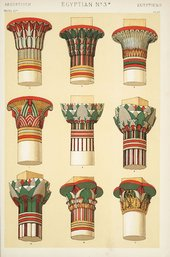 Examples of Egyptian ornaments, from Owen Jones, The Grammar of Ornament (1856)