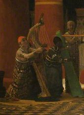 Lawrence Alma-Tadema Pastime in Ancient Egypt Three Thousand Years Ago 1863