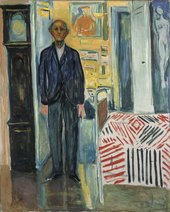 Edvard Munch Self-Portrait: Between the Clock and the Bed
