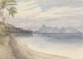 Edward Gennys Fanshawe Eimeo from near Papeiti 1849
